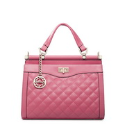 High quality designer genuine leather bag Pink