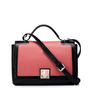 Rotating space-time series handbag red and black