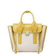 Contrast color queen series motorcycle bag  yellow and white