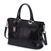 NUCELLE fashion snake leather handbag Black