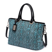 NUCELLE fashion snake leather handbag Blue
