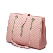 NUCELLE Genuine leather Tassel women Shoulder bag Pink