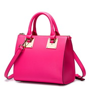 NUCELLE Modern fashion series Women leather bag Rose red