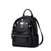 NUCELLE women leather backpack Black