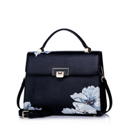 Think about series of elegant  leather handbag Black