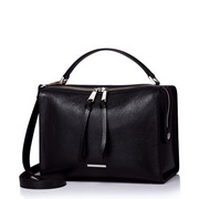 NUCELLE  high-capacity women leather bag Black
