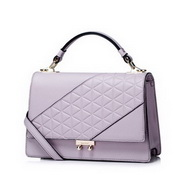 NUCELLE Genuine Leather 2016 Stylish Elegant Lady Cube Shoulder Bag Purple