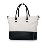 NUCELLE Cowhide Leather Summer New Simple Style Tote Bag White
