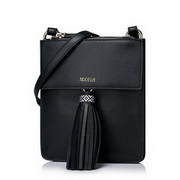 NUCELLE Top PU Leather 2016 Bohemian Style Tassel Crossbody Bag Black