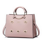 NUCELLE Good Quality 2017 New Sweet Heart Handbag Pink