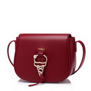 NUCELLE 2017 New Autumn Modern Lady Saddle Bag Red