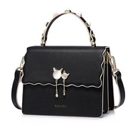 NUCELLE 2017 New Elegant Women Flouncing Handbag Shoulder Bag Black