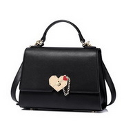 NUCELLE 2017 New Elegant Heart Shoulder Bag Black