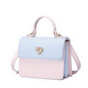 NUCELLE 2018 New Contrast Color Sweet Messenger Bag Blue