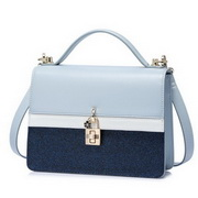 NUCELLE 2018 Spring New Office Lady Shoulder Bag Blue