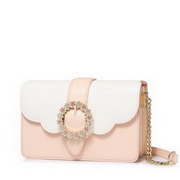 NUCELLE 2018 New Fancy Flower Diamond Shoulder Bag Soft Pink