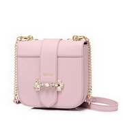 NUCELLE PU 2018 New Fashionable Saddle Bag Pink