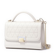 NUCELLE 2018 New Fashion Rhomboids Design Lady Shoulder Bag  White