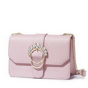 NUCELLE 2018 New Sweet Diamond Decoration Shoulder Bag Pink