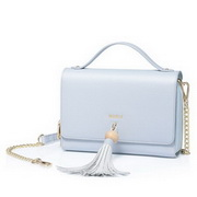 NUCELLE 2018 New Stylish Tassels Traveling Shoulder Bag Blue