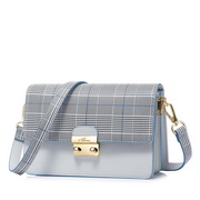NUCELLE 2018 New Popular Modern Plaid Design Shoulder Bag Gray