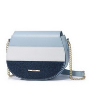 NUCELLE 2018 New Contrast Color Women Saddle Bag Blue