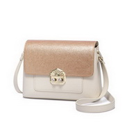 NUCELLE 2018 New Fashion Shining Shoulder Bag Gold&Apricot