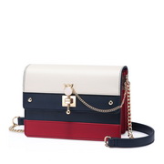 NUCELLE 2018 New British Style Shoulder Bag White&Blue&Red