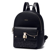 NUCELLE 2018 New British Style Casual Backpack Black