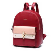 NUCELLE 2018 New British Style Casual Backpack Red