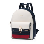 NUCELLE 2018 New British Style Casual Backpack Blue&Red&White L