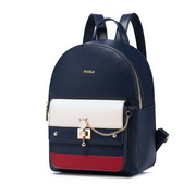 NUCELLE 2018 New British Style Casual Backpack Blue&Red&White
