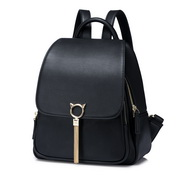 NUCELLE 2018 Stylish Tassel Frosted Style Backpack Black