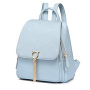 NUCELLE 2019 Stylish Tassel Frosted Style Backpack Blue