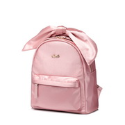NUCELLE 2018 New Fashion Satin Bowknot Backpack Pink