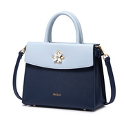 NUCELLE 2018 New Elegant Petal Lock Women Handbag Blue