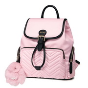 NUCELLE 2018 New Fashion Travelling Decorations Backpack Pink