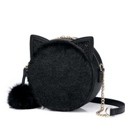 NUCELLE 2018 New Sweet Popular Pink Round Bag Black