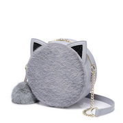 NUCELLE 2018 New Sweet Popular Pink Round Bag Gray