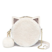 NUCELLE 2018 New Sweet Popular Pink Round Bag White