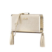 NUCELLE 2018 New Elegant Fashion Evening Bag  Champagne Gold