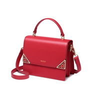 NUCELLE 2018 New Winter Elegant Lady Messenger Bag Red