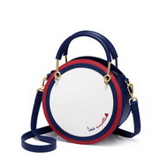 NUCELLE 2019 New Stylish Navy Style Women Round Bag White