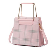 NUCELLE 2019 New Hot Selling Plaid Style Handbag Pink