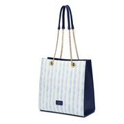 NUCELLE 2019 New Naval Stripes Series Tote Bag Blue
