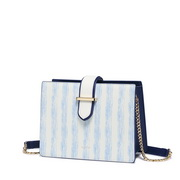 NUCELLE 2019 New Naval Stripes Series Shoulder Bag Blue