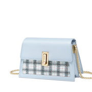 NUCELLE 2019 New Stylish Bright Plaid Shoulder Bag Blue