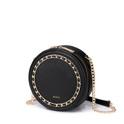 NUCELLE 2019 New Fashion Casual Vintage Style Round Bag Black