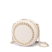 NUCELLE 2019 New Fashion Casual Vintage Style Round Bag Apricot