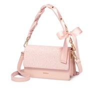 NUCELLE 2019 New Fashion Bowknot Handle Shoulder Bag Pink